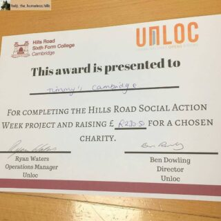 A HUGE WELL DONE 👏  #Repost from help_the_homeless.hills with regram.app ... We raised a total of £230.50 for jimmyscambridge #hillssocialaction #jimmyscambridge